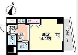 神奈川県横浜市中区山田町の賃貸マンションの間取り