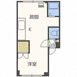 北海道札幌市北区北十九条西2丁目の賃貸マンションの間取り