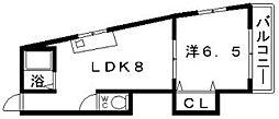 越部アルプス山坂ビル[2階]の間取り