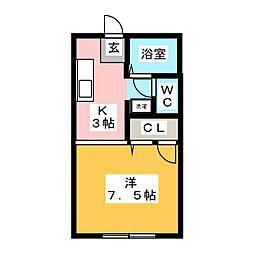 サンコーポ翔C[2階]の間取り