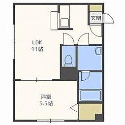 アムール東札幌[4階]の間取り
