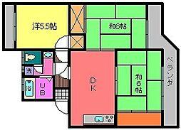 小野カメラコーポ[1階]の間取り