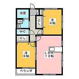 セレノIII[2階]の間取り