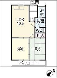 ぴゅあレジデンス[1階]の間取り