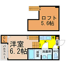 クレール・K・桜山[105号室]の間取り