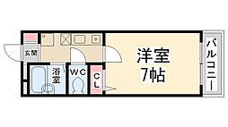 リバティハイム桜井II[302号室]の間取り