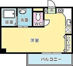 寿山ビル[605号室]の間取り