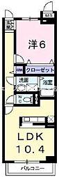 岡山県岡山市北区七日市西町の賃貸マンションの間取り