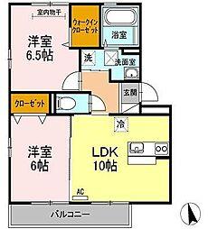 ランロード[2階]の間取り