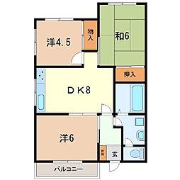 静岡県駿東郡清水町徳倉の賃貸マンションの間取り
