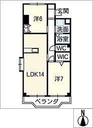 寿庵「JUAN」[2階]の間取り