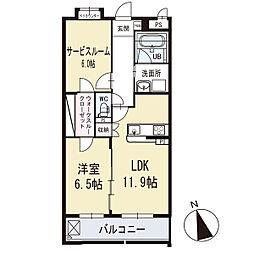 ビエント 1階[102号室]の間取り