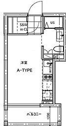 B CITY APARTMENT TACHIKAWA[205号室号室]の間取り