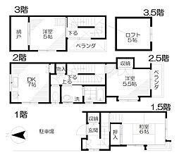 [テラスハウス] 東京都西東京市向台町4丁目 の賃貸【/】の間取り