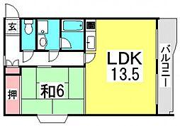井口FLATS[2階]の間取り