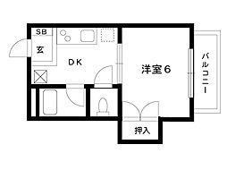 エティ・ホーム[106号室]の間取り