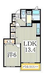 プロムナードA[1階]の間取り