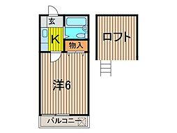 ラディシュ川田[2階]の間取り