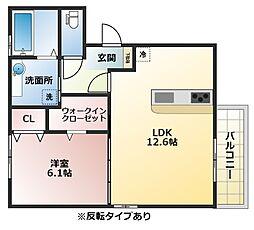 Lien soeur A棟[2階]の間取り