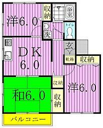 アビタシオン大和田A[2階]の間取り