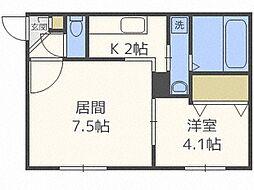 SUONO南円山[403号室]の間取り