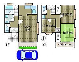 [テラスハウス] 東京都町田市成瀬が丘3丁目 の賃貸【東京都 / 町田市】の間取り