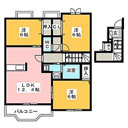 ポラリスII[2階]の間取り