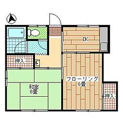 [一戸建] 東京都日野市旭が丘5丁目 の賃貸【/】の間取り