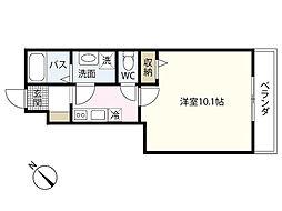 広島電鉄5系統 段原一丁目駅 徒歩5分の賃貸アパート 1階1Kの間取り