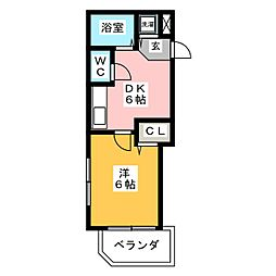 トーノ第一ビル[14階]の間取り