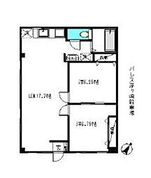 パレス茅ヶ崎[1階]の間取り