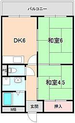 コーポ桜の町[3階]の間取り