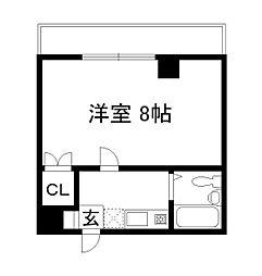 第22長栄エバグリーン桂川[5階]の間取り