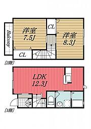 [タウンハウス] 千葉県四街道市和良比 の賃貸【/】の間取り