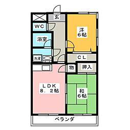 メゾンド・ベル[1階]の間取り