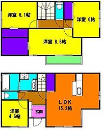 [一戸建] 静岡県浜松市中区野口町 の賃貸【/】の間取り