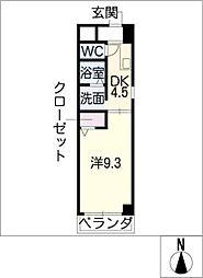 オアゾ名西[1階]の間取り