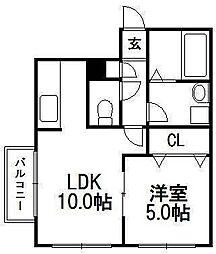 北海道札幌市豊平区平岸三条18丁目の賃貸マンションの間取り