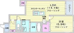 JR東北本線 南仙台駅 徒歩24分の賃貸アパート 1階1LDKの間取り