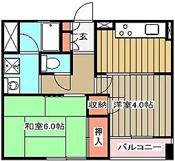 マノワール武蔵野[302号室]の間取り
