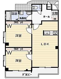 Osaka Metro長堀鶴見緑地線 鶴見緑地駅 徒歩11分の賃貸マンション 3階3LDKの間取り