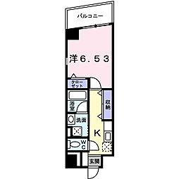 大阪府八尾市美園町3丁目の賃貸マンションの間取り