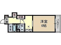 ホワイトプラザ[2階]の間取り