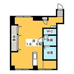 あさひレジデンス五番館[1階]の間取り