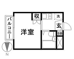 コーポ・保戸田[303号室]の間取り