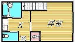 マーキューリー平井[2階]の間取り