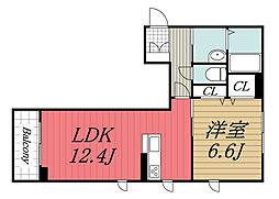 JR内房線 姉ヶ崎駅 徒歩7分の賃貸マンション 3階1LDKの間取り