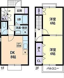 グランシャリIIZUMI[2階]の間取り