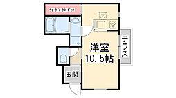 マ・メゾン川西[102号室]の間取り