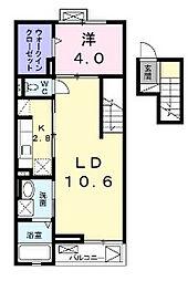 東京都調布市深大寺東町2丁目の賃貸マンションの間取り